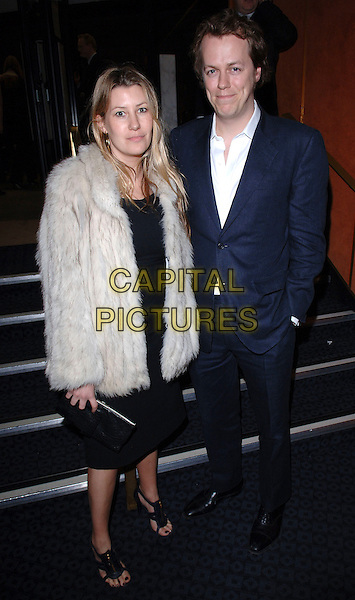 "SARAH & TOM PARKER-BOWLES.""The White Countess"" UK film premiere at Curzon Mayfair, London, UK..March 19th, 2006.Ref: FIN.full length married couple husband wife blue suit white fur coat black clutch purse.www.capitalpictures.com.sales@capitalpictures.com.© Capital Pictures."