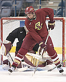 Andrew Orpik (Adam Reasoner) - The Boston College Eagles practiced at the Bradley Center in Milwaukee, Wisconsin, on April 7, 2006 in preparation for the 2006 Frozen Four Final game vs. the University of Wisconsin on April 8, 2006.