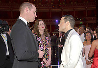 10 February 2-19 - Prince William Duke of Cambridge meets Rami Malek with Amanda Berry at the EE Bafta British Academy Film Awards 2019 at The Royal Albert Hall in London. Photo Credit: ALPR/AdMedia