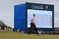 Russell Knox (SCO) on the 18th green on the play-off hole during Round 4 of the Dubai Duty Free Irish Open at Ballyliffin Golf Club, Donegal on Sunday 8th July 2018.<br /> Picture:  Thos Caffrey / Golffile
