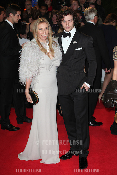Aaron Johnson, Sam Taylor-Wood arriving for the Royal World Premiere of 'Skyfall' at Royal Albert Hall, London. 23/10/2012 Picture by: Alexandra Glen / Featureflash
