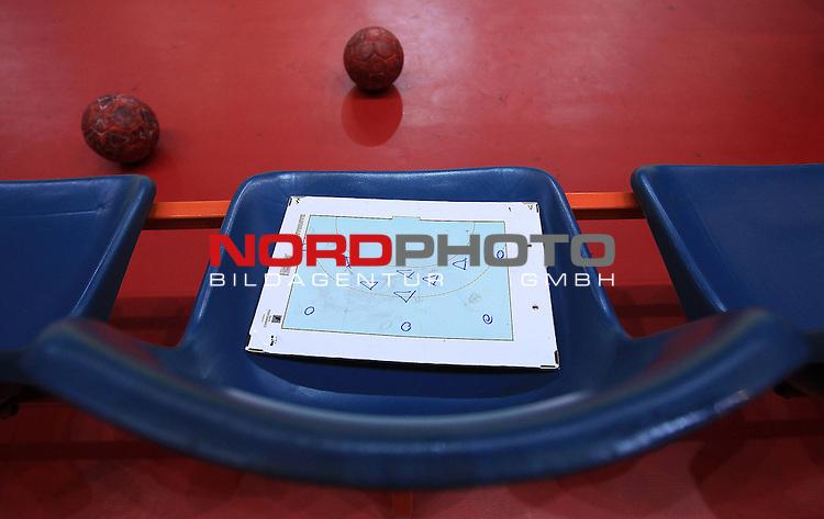 18.01.2012., Millennium Hall, Vrsac, Srbija - 10th men's european handball championship, group D, Slovenia - Croatia. Board. <br /> <br /> Foto &copy;  nph / PIXSELL / Antonio Bronic