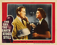 The Day the Earth Stood Still (1951) <br /> Lobby card with Hugh Marlowe &amp; Patricia Neal<br /> *Filmstill - Editorial Use Only*<br /> CAP/KFS<br /> Image supplied by Capital Pictures