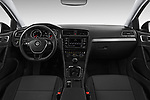 Stock photo of straight dashboard view of 2017 Volkswagen Golf-Variant Trend-Line 5 Door Wagon Dashboard