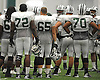Members of the New York Jets gather during team training camp at Atlantic Health Jets Training Center in Florham Park, NJ on Sunday, July 31, 2016.