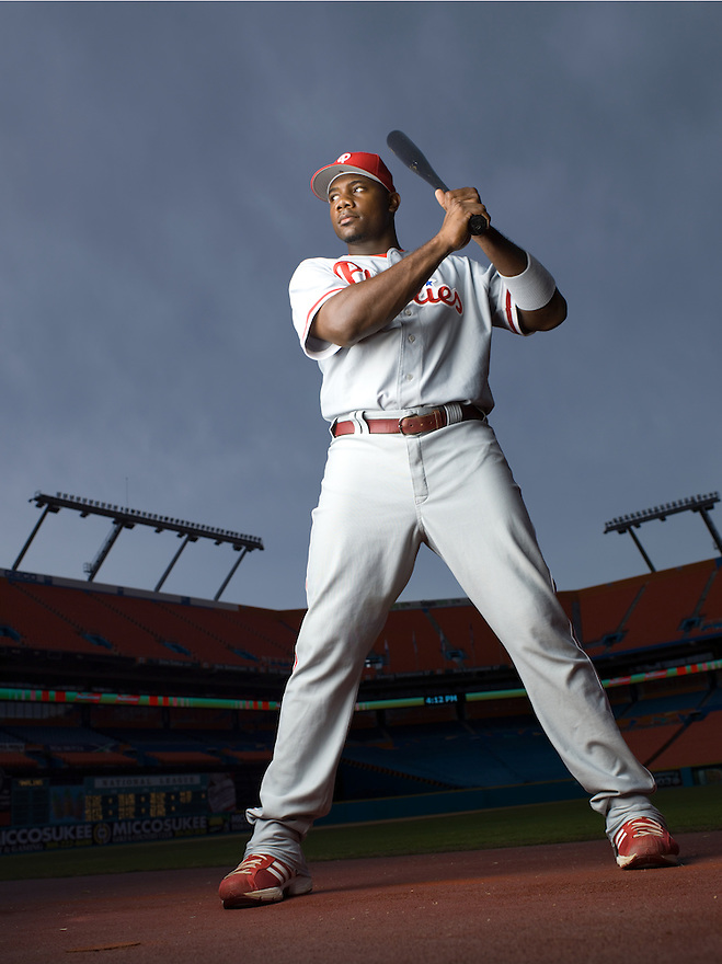 Philadelphia Phillies slugger Ryan Howard photographed in Miami, Florida for ESPN the Magazine on September 8, 2006