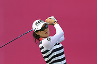 Minjee Lee (AUS) tees off the 1st tee during Friday's Round 2 of The Evian Championship 2018, held at the Evian Resort Golf Club, Evian-les-Bains, France. 14th September 2018.<br /> Picture: Eoin Clarke | Golffile<br /> <br /> <br /> All photos usage must carry mandatory copyright credit (&copy; Golffile | Eoin Clarke)