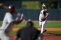 Louisville Cardinals relief pitcher Sam Bordner (13) in action against the Florida State Seminoles in Game Eleven of the 2017 ACC Baseball Championship at Louisville Slugger Field on May 26, 2017 in Louisville, Kentucky. The Seminoles defeated the Cardinals 6-2. (Brian Westerholt/Four Seam Images)