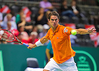 Switserland, Genève, September 18, 2015, Tennis,   Davis Cup, Switserland-Netherlands, Jesse Huta Galung (NED)<br /> Photo: Tennisimages/Henk Koster