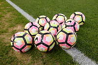 Harrison, NJ - Thursday Sept. 15, 2016: Balls before a CONCACAF Champions League match between the New York Red Bulls and Alianza FC at Red Bull Arena.