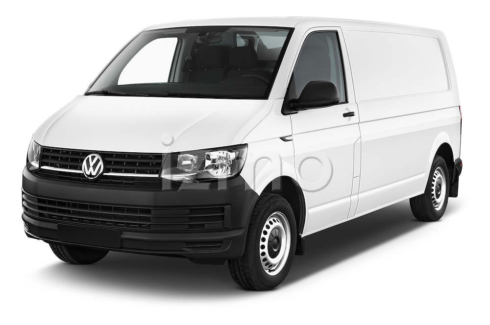 2016 Volkswagen Transporter-Furgon - 4 Door Cargo Van Angular Front stock photos of front three quarter view