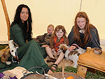 Fiona, Willow, Ailish and Holly Burns pictured at the Annagassan Viking Festival. Photo: Colin Bell/pressphotos.ie