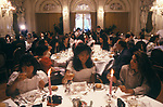 Swiss Finishing school Surval Mont-Fleuri Montreux Switzerland. End of year dinner for students 1990S