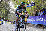 Rudiger Selig (GER) Bora-Hansgrohe on the the first ascent of the Kemmelberg during the 2019 Gent-Wevelgem in Flanders Fields running 252km from Deinze to Wevelgem, Belgium. 31st March 2019.<br /> Picture: Eoin Clarke | Cyclefile<br /> <br /> All photos usage must carry mandatory copyright credit (© Cyclefile | Eoin Clarke)