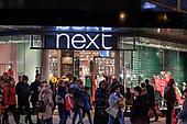 Next.  End of year sales, Oxford Street, London.