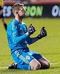 Colorado Rapids goalkeeper Zac MacMath (18) reacts to giving up the third goal of the night to Real Salt Lake in the second half Saturday, April 21, 2018, during the Major League Soccer game at Rio Tiinto Stadium in Sandy, Utah. RSL beat the Colorado Rapids 3-0. (© 2018 Douglas C. Pizac)