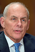 General John F. Kelly, USMC (Retired) testifies before the United States Senate Committee on Homeland Security and Governmental Affairs confirmation hearing on his nomination to be Secretary, US Department of Homeland Security on Capitol Hill in Washington, DC on Tuesday, January 10, 2017.<br /> Credit: Ron Sachs / CNP