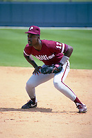 Philadelphia Phillies Ricky Jordan during spring training circa 1991 at Chain of Lakes Park in Winter Haven, Florida.  (MJA/Four Seam Images)