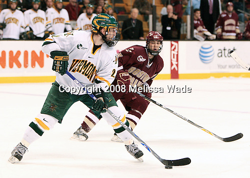 Slavomir Tomko (Vermont - 2) (Price) - The Boston College Eagles defeated the University of Vermont Catamounts 4-0 in the Hockey East championship game on Saturday, March 22, 2008, at TD BankNorth Garden in Boston, Massachusetts.