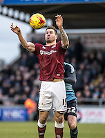 James Collins of Northampton Town during the Sky Bet League 2 match between Northampton Town and Wycombe Wanderers at Sixfields Stadium, Northampton, England on the 20th February 2016. Photo by Liam McAvoy.