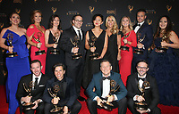 LOS ANGELES, CA - SEPTEMBER 09: Lori Greiner, And Shark Tank Crew, at the 2017 Creative Arts Emmy Awards- Press Room at Microsoft Theater on September 9, 2017 in Los Angeles, California. <br /> CAP/MPIFS<br /> &copy;MPIFS/Capital Pictures