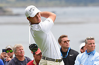 Jovan Rebula (a)(RSA) watches his tee shot on 13 during round 2 of the 2019 US Open, Pebble Beach Golf Links, Monterrey, California, USA. 6/14/2019.<br /> Picture: Golffile | Ken Murray<br /> <br /> All photo usage must carry mandatory copyright credit (© Golffile | Ken Murray)