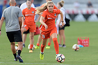Frisco, TX - Sunday September 03, 2017: Kristie Mewis warming up during a regular season National Women's Soccer League (NWSL) match between the Houston Dash and the Seattle Reign FC at Toyota Stadium in Frisco Texas. The match was moved to Toyota Stadium in Frisco Texas due to Hurricane Harvey hitting Houston Texas.