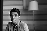 Mohamed Assaf,Palestinian from Gaza, winner of Arab Idol, during an interview in Ramallah. Photo by Quique Kierszenbaum