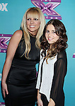 LOS ANGELES, CA - DECEMBER 17: Britney Spears and Carly Rose Sonenclar attend  'The X Factor' season finale press conference at CBS Studios on December 17, 2012 in Los Angeles, California.