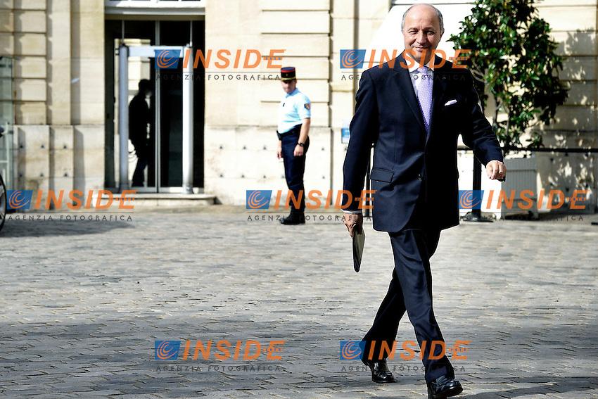 Laurent Fabius .Parigi 17/06/2012 Meeting a Matignon per le elezioni legislative .Foto Insidefoto /Gerard Roussel / Panoramic.ITALY ONLY.