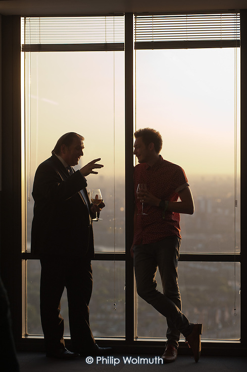 Summer Party at Level39, which occupies the entire 39th floor of the iconic tower at One Canada Square, and describes itself as Europe's largest accelerator space for finance, retail and future cities technology companies.  It is part of the London Tech City initiative, and was set up by the Canary Wharf Group in March 2013 to put high potential tech developers in the same space as influential technology buyers and investors.