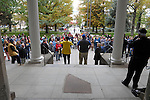"People gather at the Capitol Thursday, Oct. 30, 2014 for #NevadaSings!, a statewide sing-a-long of ""Home Means Nevada."" Approximately 370 people took part  in the Carson City portion of the event, which seeks to establish a new record for the most people in an American state to sing their state song at the same time."