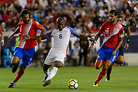 Harrison, NJ - Friday Sept. 01, 2017: Celso Borges, Darlington Nagbe, Bryan Ruiz during a 2017 FIFA World Cup Qualifier between the United States (USA) and Costa Rica (CRC) at Red Bull Arena.