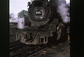3/4 smokebox view of D&amp;RGW #495.<br /> D&amp;RGW