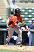 Baltimore Orioles second baseman Ronarsy Ledesma (45) during an Instructional League game against the Tampa Bay Rays on September 15, 2014 at Ed Smith Stadium in Sarasota, Florida.  (Mike Janes/Four Seam Images)