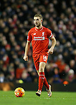 Jordan Henderson of Liverpool in action - English Premier League - Liverpool vs Manchester City - Anfield Stadium - Liverpool - England - 3rd March 2016 - Picture Simon Bellis/Sportimage