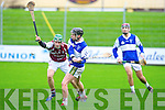 Causeway's Jamie Barrett and Ardfert's John Hussey in action in the U21 hurling semi-final at Austin Stack, Tralee on Sunday.