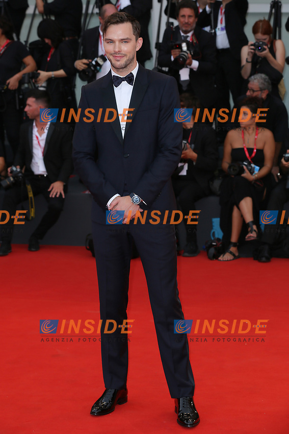 """VENICE, ITALY - AUGUST 28: Nicholas Hoult walks the red carpet ahead of the Opening Ceremony and the """"La Verite"""" (The Truth) screening during the 76th Venice Film Festival at Sala Grande on August 28, 2019 in Venice, Italy., 2019 in Venice, Italy. (Photo by Marck Cape/Inside Foto)<br /> Venezia 28/08/2019"""