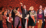 Warren Carlyle, Caroline O'Connor, James Gray, Erin Dilly, Dan Lauria, Johnny Rabe, Justin Paul & Company during the Broadway Opening Night Performance Curtain Call for 'A Christmas Story - The Musical'  at the Lunt Fontanne Theatre in New York City on 11/19/2012.