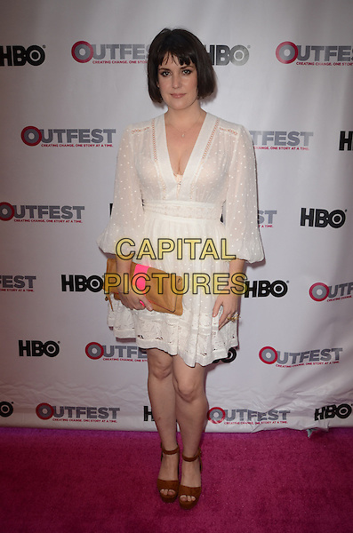 LOS ANGELES, CA - JULY 07: Melanie Lynskey at 2016 Outfest Los Angeles LGBT Film Festival Opening Night Gala of 'The Intervention' at Orpheum Theatre on July 7, 2016 in Los Angeles, California.<br /> CAP/MPI/DE<br /> &copy;DE/MPI/Capital Pictures