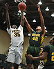 Raymond Foster #35 of Uniondale, left, and Tyreik Frazier #42 of Westbury battle for a rebound during the Nassau County varsity boys basketball Class AA semifinals at Farmingdale State College on Monday, Feb. 26, 2018. Top-seeded Uniondale won by a score of 61-44.