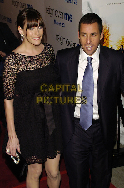 "LIV TYLER & ADAM SANDLER.Premiere of Sony Pictures ""Reign Over Me"" Skirball Center at NYU, 566 La Guardia Place, New York, New York, USA..March 20th, 2007.half length black suit jacket lace dress.CAP/ADM/BL.©Bill Lyons/AdMedia/Capital Pictures *** Local Caption ***"