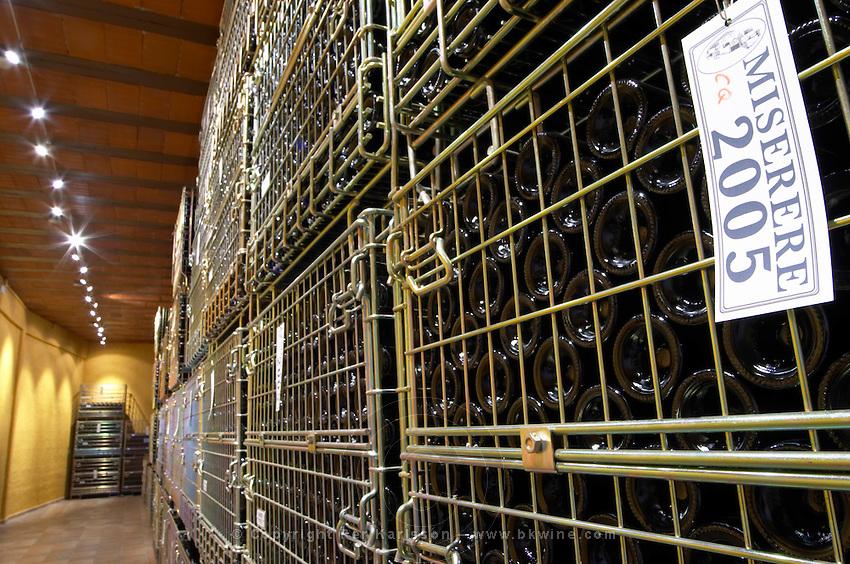 Bottles aging in the cellar. Miserere 2005. Clos de l'Obac, Costers del Siurana, Gratallops, Priorato, Catalonia, Spain.