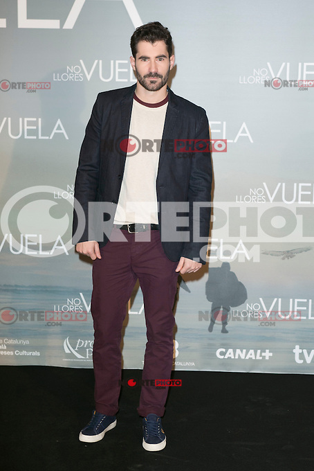 Jose Sospedra attends Claudia&acute;s Llosa &quot;No Llores Vuela&quot; movie premiere at Callao Cinema, Madrid,  Spain. January 21, 2015.(ALTERPHOTOS/)Carlos Dafonte) /NortePhoto<br />