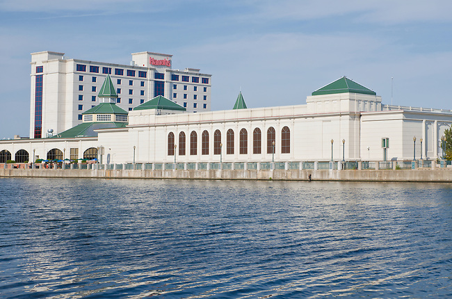 Harrah's Casino in Joliet, Illinois on the south bank of the DesPlaines River