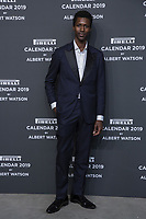 "Calvin Royal II attends the gala night for official presentation of the Presentation of the Pirelli Calendar 2019 ""The cal"" held at the Hangar Bicocca. Milan (Italy) on december 5, 2018. Credit: Action Press/MediaPunch ***FOR USA ONLY***"