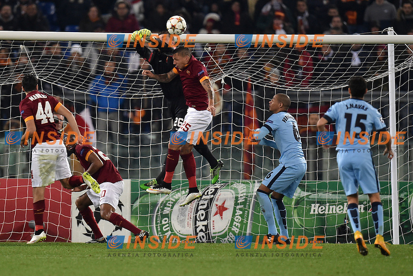 Parata Morgan De Sanctis Roma <br /> Roma 10-12-2014 Stadio Olimpico, Football Champions League Group Stage Group E . AS Roma - Manchester City. Foto Andrea Staccioli / Insidefoto