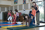 El Cerrito CA Girl students, ages six to eight, putting on performance in after-school circus program