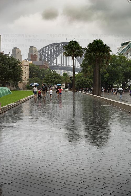 Storm in Sydney Australia at the harbour bridge