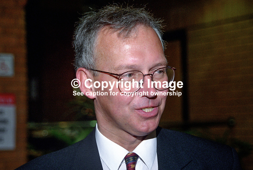 Peter Davis, Croydon South, UK, Conservative Party, activist, 199810209.<br /> <br /> Copyright Image from Victor Patterson,<br /> 54 Dorchester Park, <br /> Belfast, UK, BT9 <br /> <br /> t1: +44 28 9066 1296 (from Rep of Ireland 048 90661296)<br /> t2: +44 28 9002 2446 (from Rep of Ireland 048 9002 2446)<br /> <br /> m: +44 7802 353836<br /> <br /> e: victorpatterson@me.com<br /> www.victorpatterson.com<br /> <br /> Please see my Terms and Conditions of Use at www.victorpatterson.com. It is IMPORTANT that you familiarise yourself with them.<br /> <br /> Images used on the Internet must be visibly watermarked i.e. &copy; Victor Patterson<br /> within the body of the image and copyright metadata must not be deleted. Images <br /> used on the Internet have a size restriction of 4kbs and will be chargeable at current<br />  NUJ rates unless agreed otherwise.<br /> <br /> This image is only available for the use of the download recipient i.e. television station, newspaper, magazine, book publisher, etc, and must not be passed on to any third <br /> party. It is also downloaded on condition that each and every usage is notified within 7 days to victorpatterson@me.com<br /> <br /> The right of Victor Patterson to be identified as the author is asserted in accordance with The Copyright Designs And Patents Act (1988). All moral rights are asserted.
